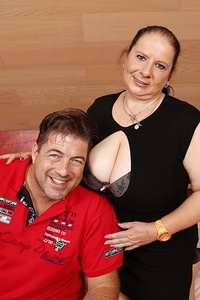 Big breasted German mature BBW getting very naughty