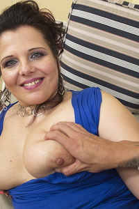 Chubby big breasted housewife playing with her toyboy