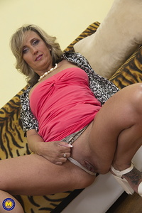 This naughty housewife loves to play alone