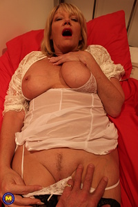 Naughty mature Amy fooling around with her lover