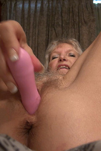 Old mature granny hairy blonde small tits masturbation usig toys