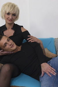 Horny housewife having fun with her toy boy
