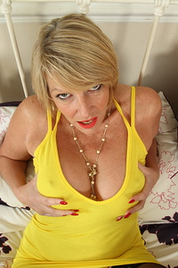 Horny British housewife showing off her dirty side
