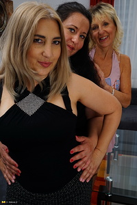 Three naughty housewives going full lesbian